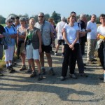 La collation avec les marcheurs de la  grande et la petite randonnée.